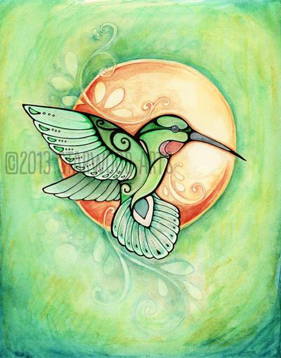 Hummingbird Spirit Totem