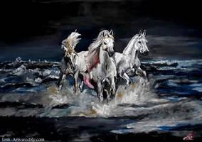 Sea Horses by Lmk-Arts