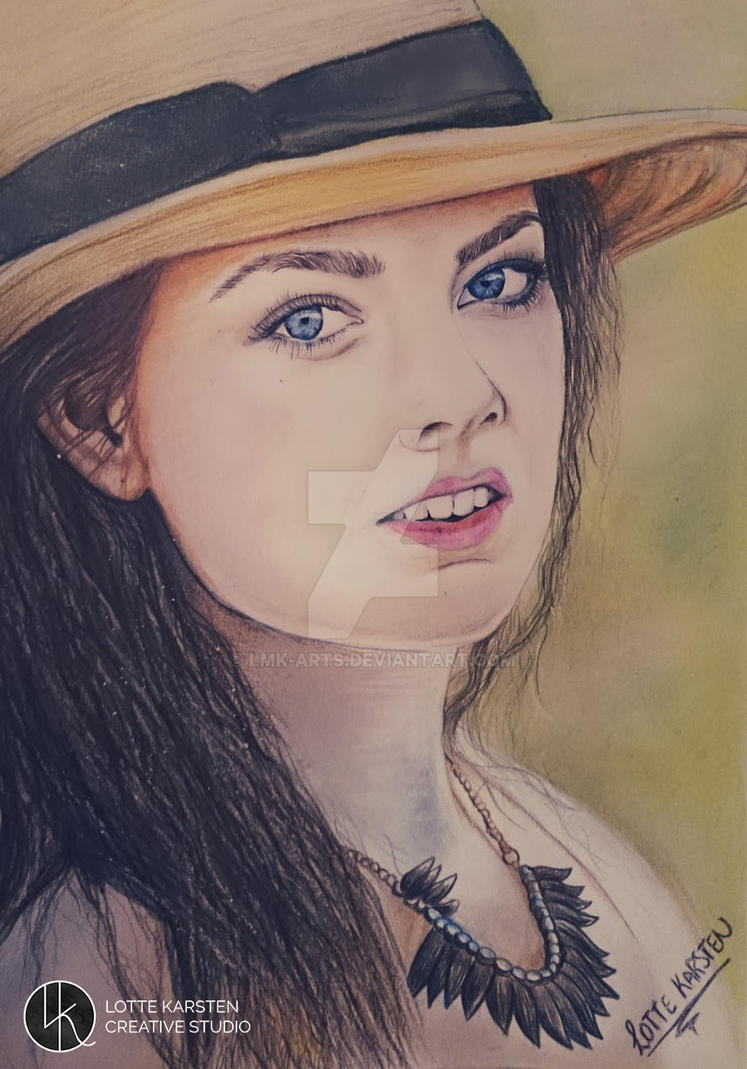 summer self-portrait by Lmk-Arts