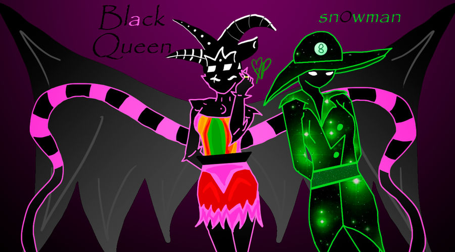 Black Queen And Snowman Wallpaper By Invader Zeen On Deviantart