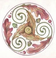 Triple Leaf Trisk by Spiralpathdesigns