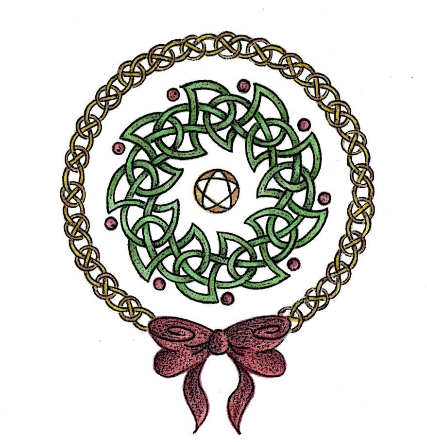 Yuletide Wreath by Spiralpathdesigns