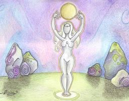 Moon Goddess by Spiralpathdesigns