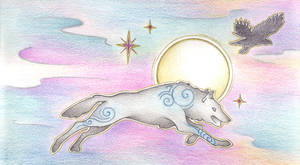 Running with the Spirits by Spiralpathdesigns