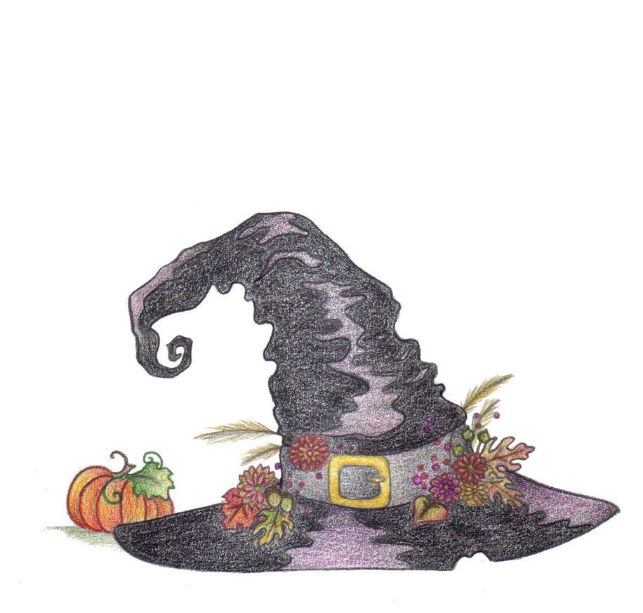 Autumn Witches' Hat by Spiralpathdesigns