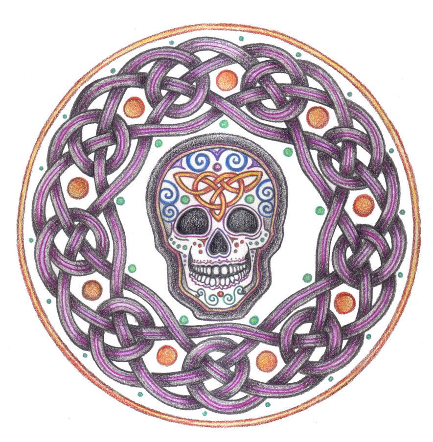 Samhain Skull Knotwork by Spiralpathdesigns