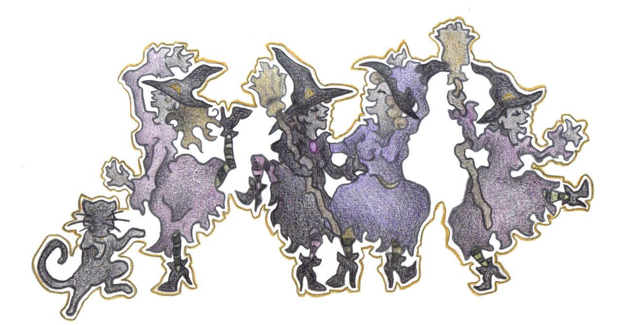Dancing Witches by Spiralpathdesigns
