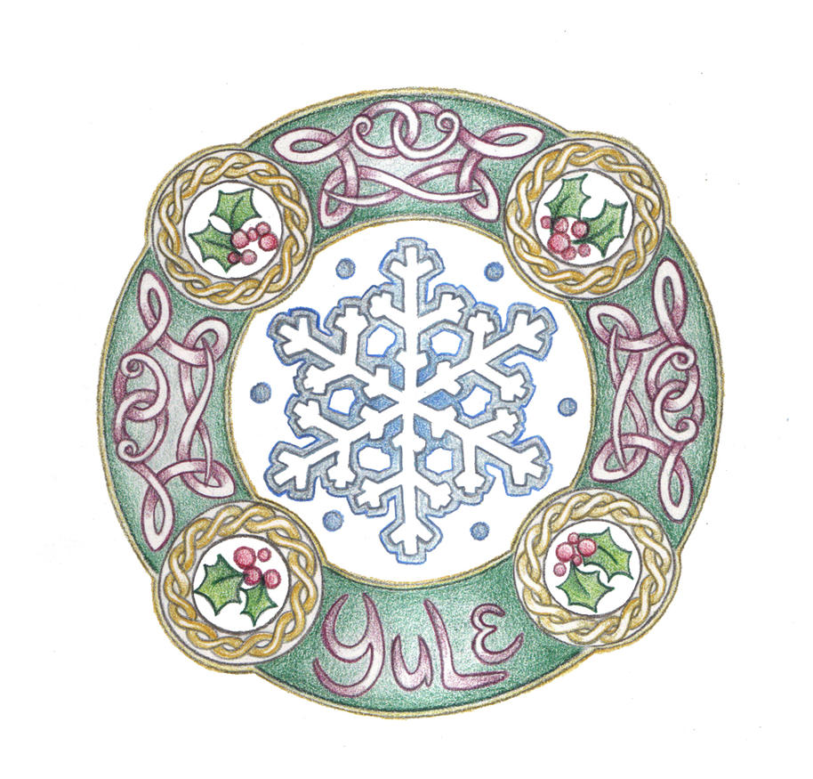 Yule Mandala by Spiralpathdesigns