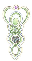 Goddess Knotwork by Spiralpathdesigns