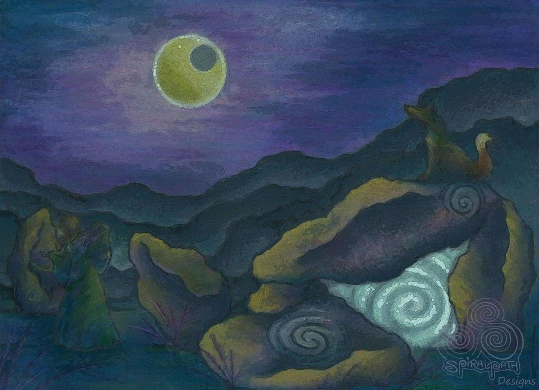 Underneath the Lavender Moon by Spiralpathdesigns