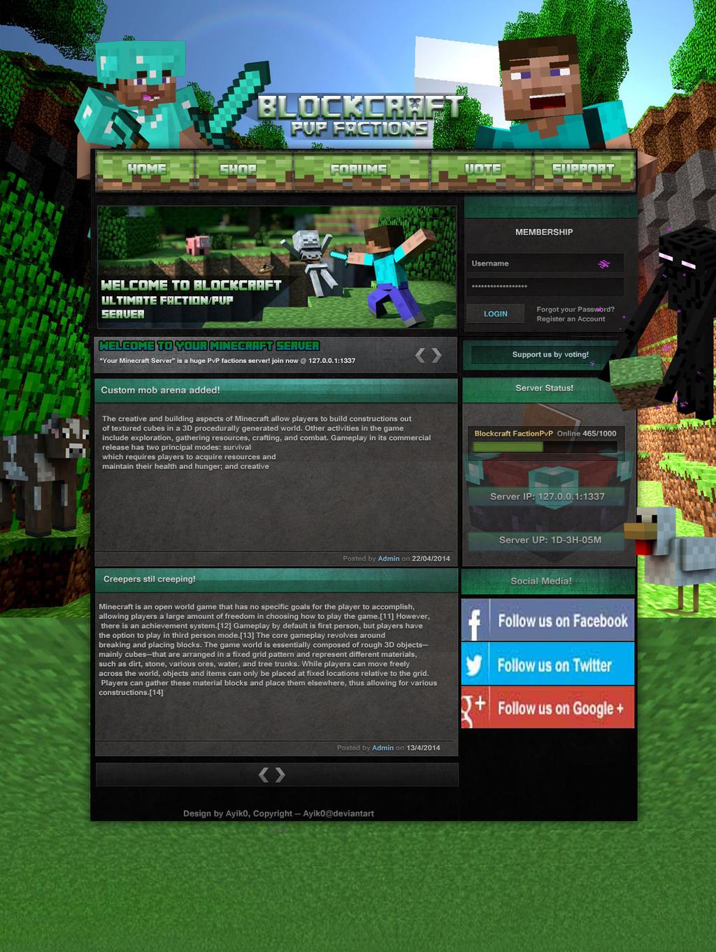 Minecraft Website Design Other Fan Art Fan Art Show Your - Game design forum