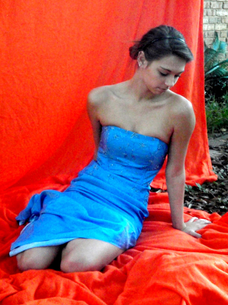 Blue Dress 4 by dinajen-stock