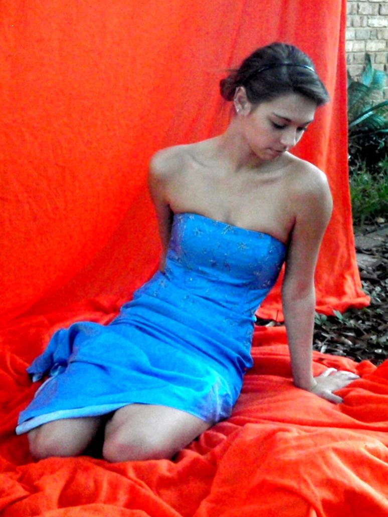 Blue Dress 4 by dinajen-stock