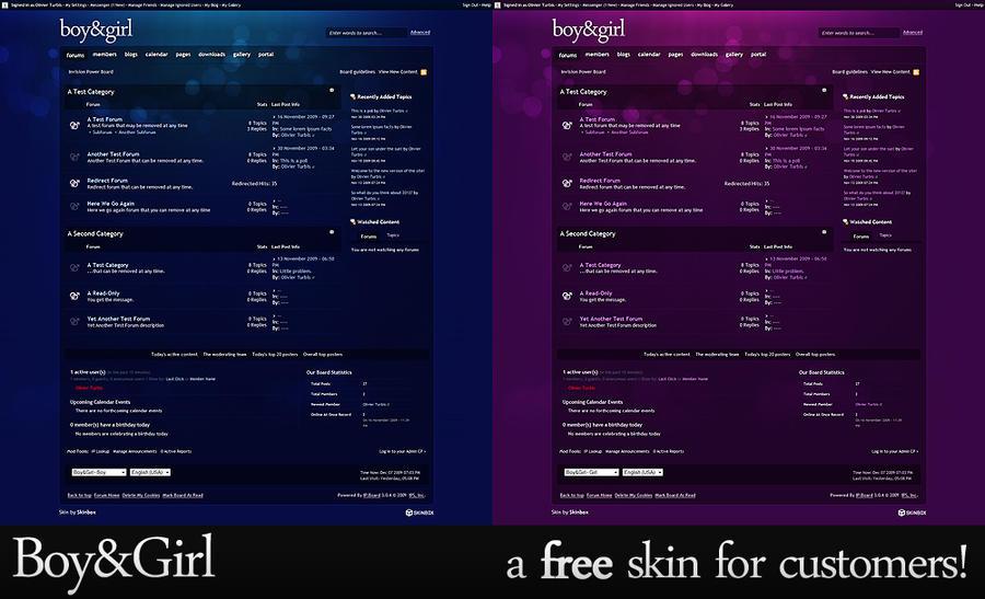 Free IPB skin: Boy and Girl by manHa5