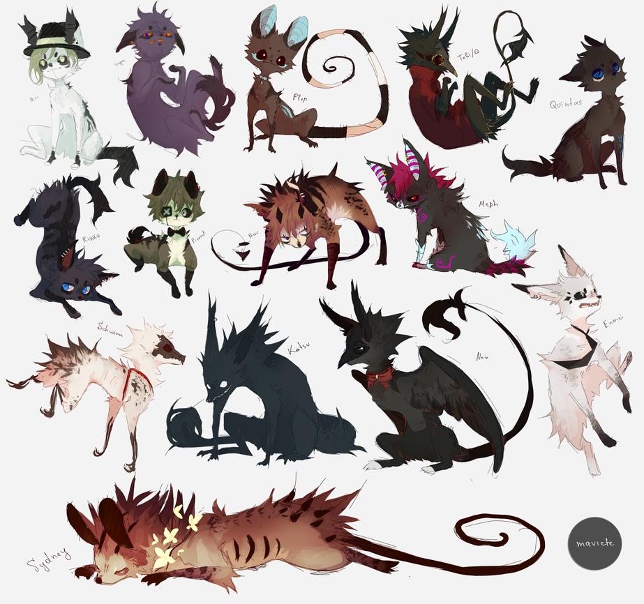 All of my current animal ocs by Maviete on DeviantArt