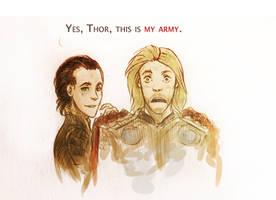 Sketch:Loki's Army by Anixien
