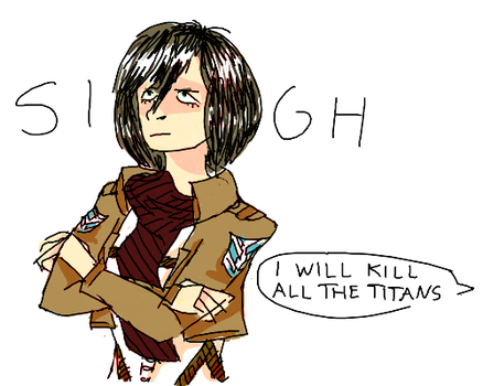 shush eren cant u see mikasa is busy
