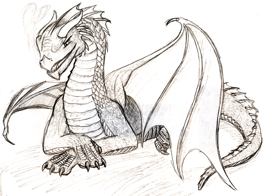 Simple Dragon by flamingpigeon on DeviantArt
