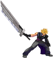 Cloud Strife AC Sprite by xHienx