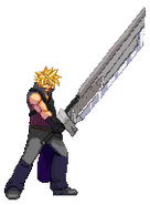 Cloud Strife AC Sprite Stance by xHienx