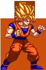 SSJ Goku Hyper Dimension Sprite Revamp by xHienx