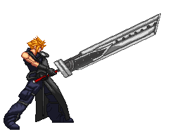 Cloud Strife Sprite by xHienx