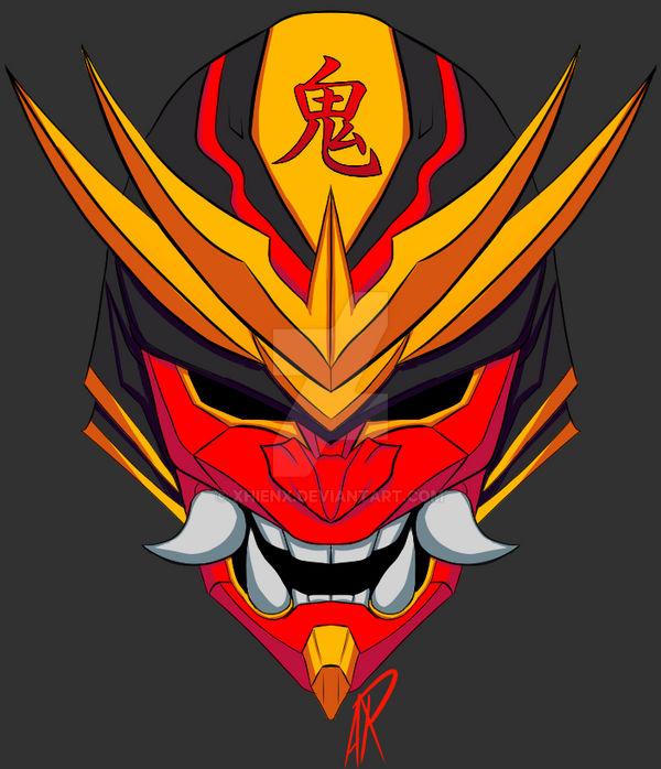 Oni Mask Cyber Logo