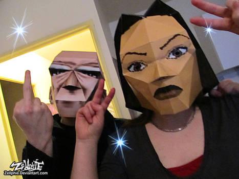 Lara and Winston Papercraft cosplay