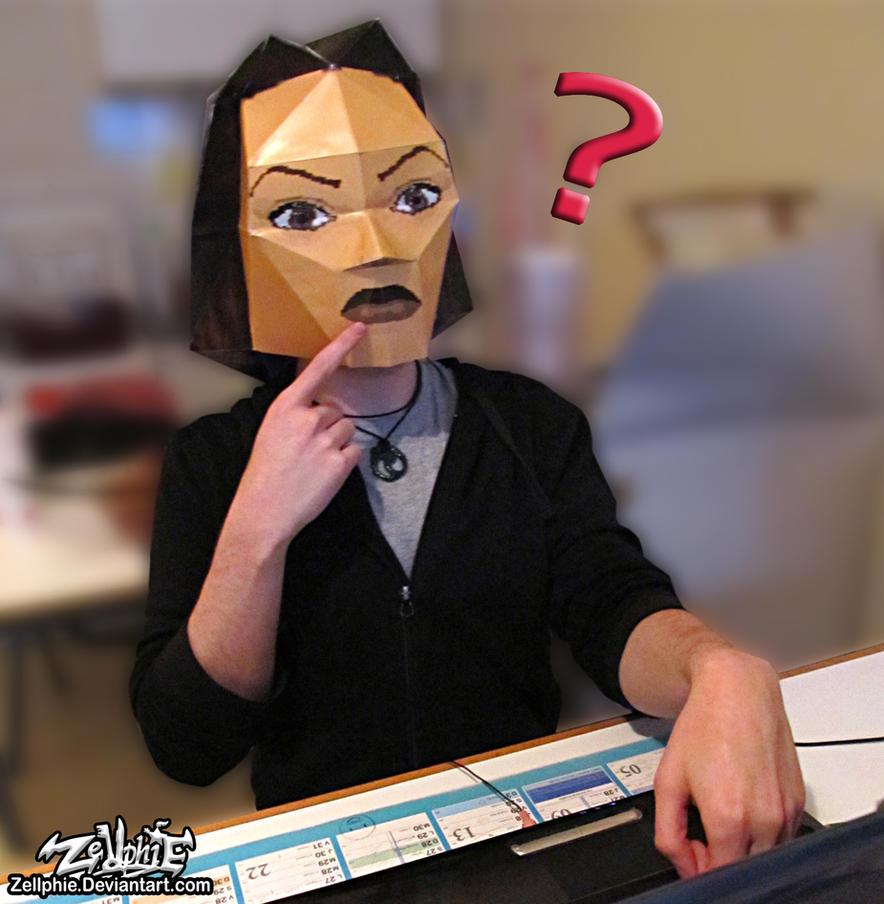 Lara Croft cosplay papercraft by Zellphie