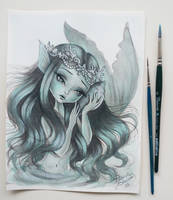 Aquamarine Mermaid by annabianco