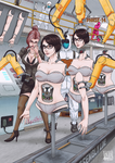 Natalie at the Assembly Line (Commission)