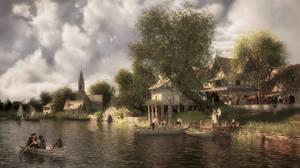 Riverscape 1 - Looks Like Rain by Kibosh-1