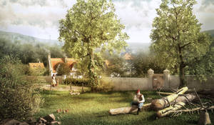 Landscape 2 - The Woodcutter by Kibosh-1