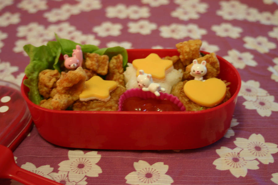 Bento Chicken and Usagi by RiYuPai