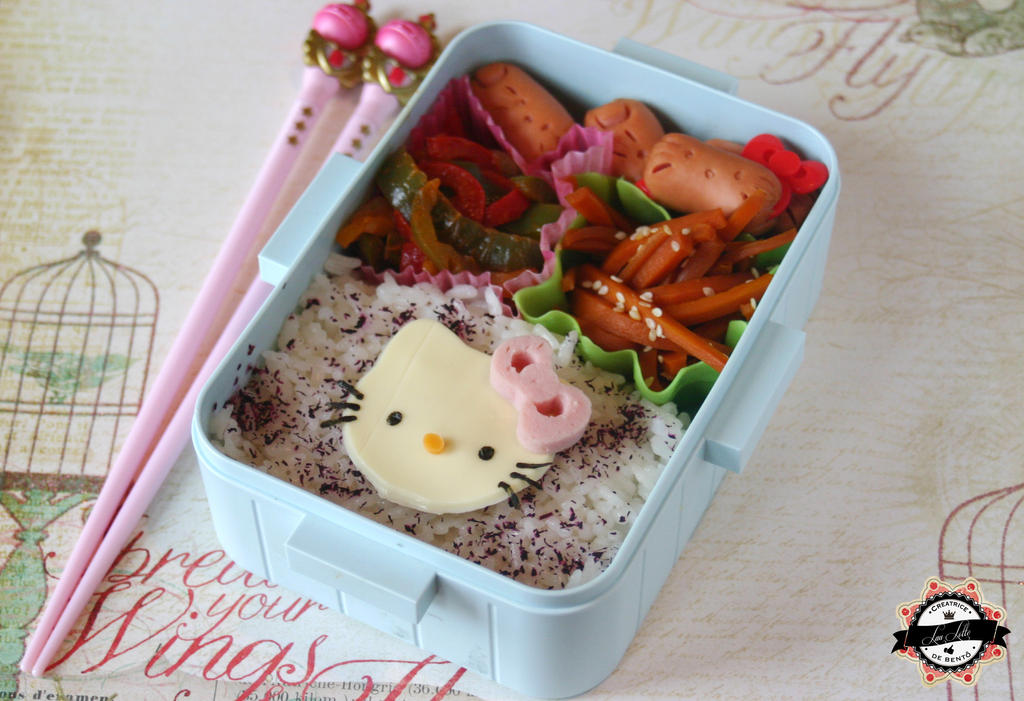 Hello Kitty bento - How to Make Bento Video by RiYuPai