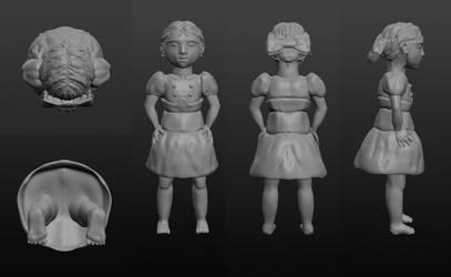Little Sister 3D Model by ElenoreLoretje2