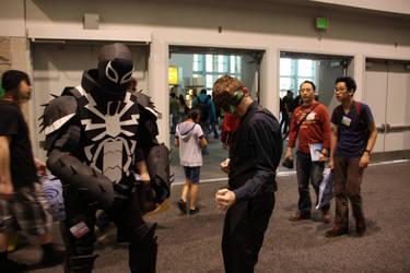Venom and Mister Masquerade the ultimate team by Yachiru5