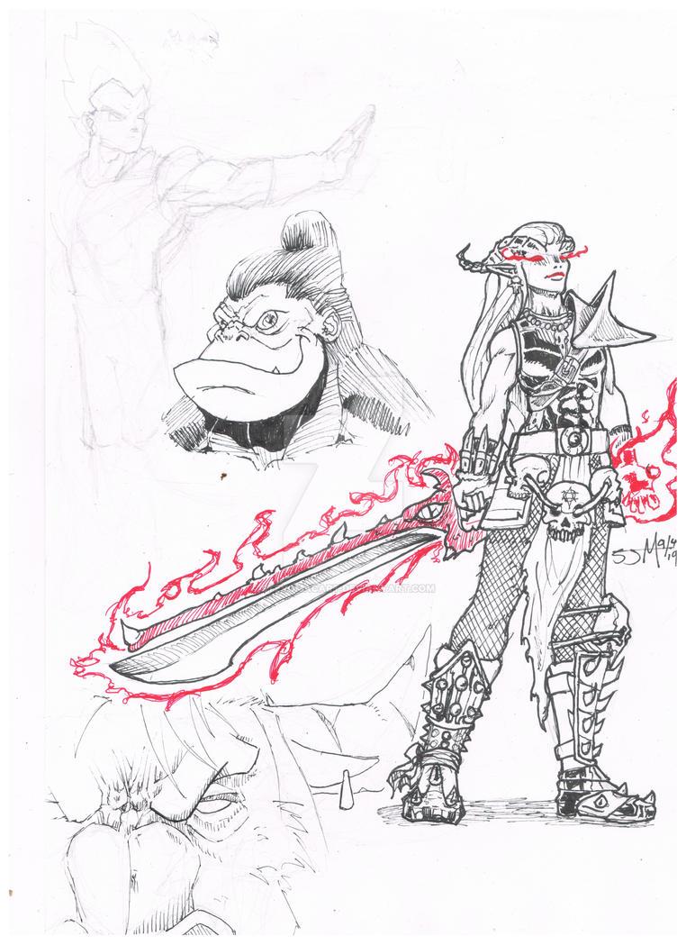 sketch page by StevoMacArt