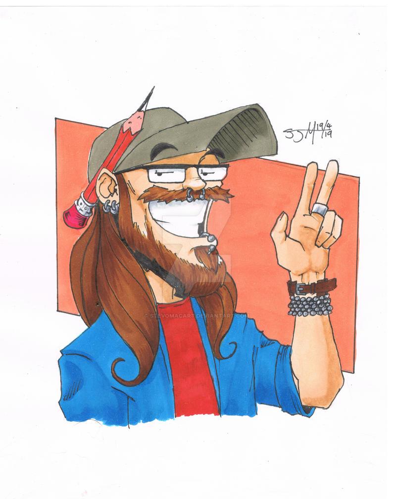 Self portrait by StevoMacArt