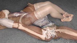 Nina Vs Anna: Leg Stretch Arm Lock 2 (X-Ray)