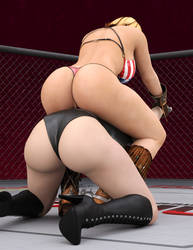 Tina VS Christie: Rodeo Hold 6 by FatalHolds