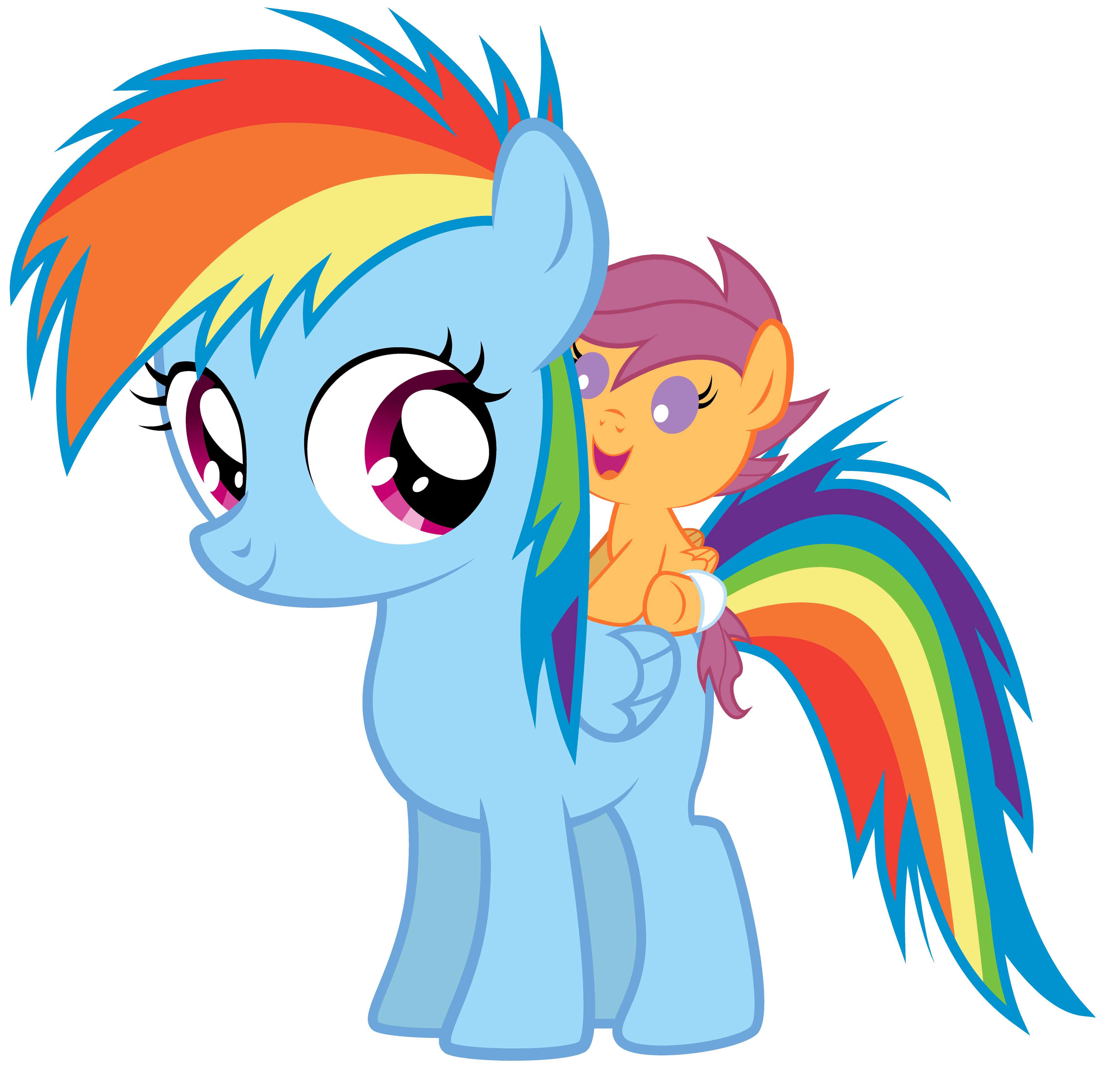 Baby Scootaloo and Filly Rainbow Dash by TechnicallyLegal ...