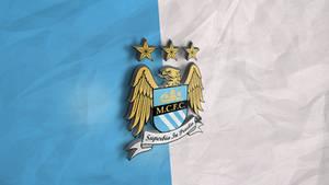 Manchester City 3D Logo Wallpaper