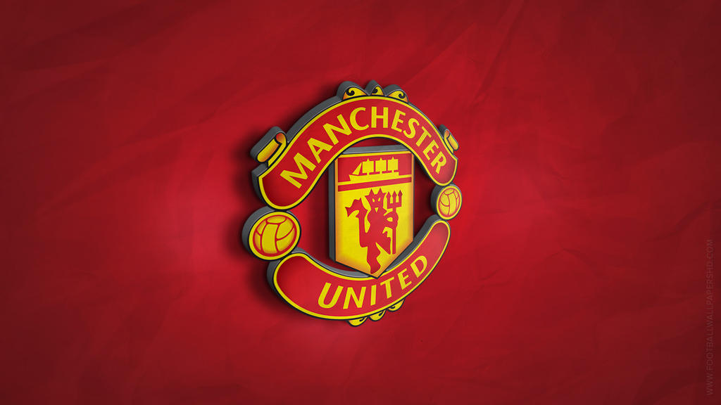 manchester united 3d logo wallpaper by fbwallpapershd on