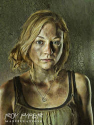 The Walking Dead: Beth: Oil Paint Re-Edit by nerdboy69