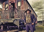 Hell on Wheels: Cullen and Thomas: Oil Paint Re-Ed by nerdboy69