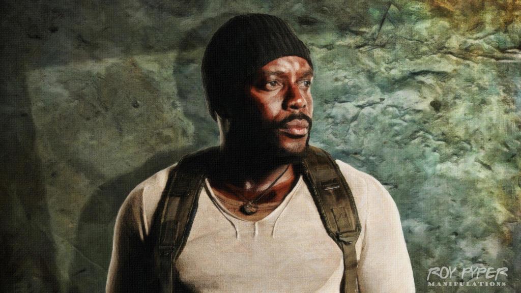 TWD: Tyreese Williams: Oil Paint Desktop by nerdboy69