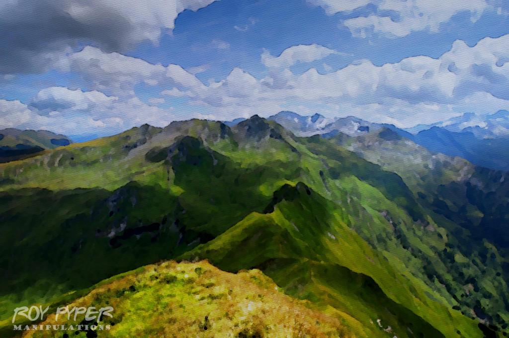 Magical Alps: Watercolour Paint Edit by nerdboy69