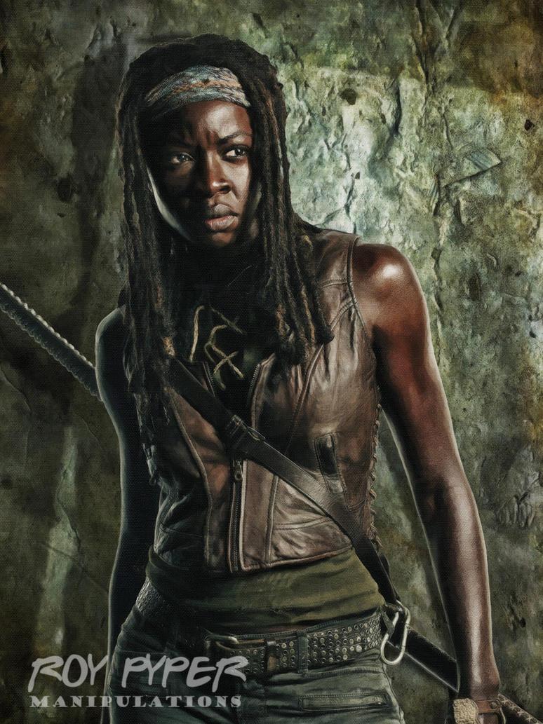 TWD: Michonne: Oil Paint Edit by nerdboy69