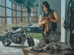 TWD: Daryl Dixon: Oil Paint Edit